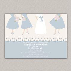 Bridesmaid's Luncheon Invitation - Custom Bridal Shower Invitation - DIGITAL -  DIY Printable Invitation on Etsy, $15.00