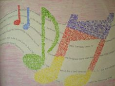 Micrography Musical Notes