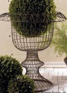 Large French Wire Urn