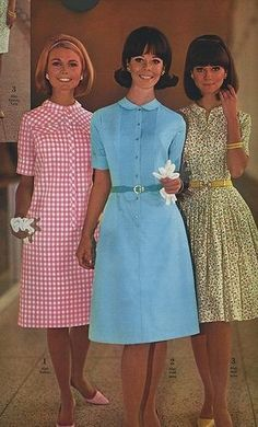 1960's Villager Dresses.  The one with the flower print was particularly popular at my high school and came in several colors.