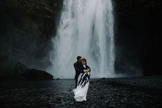 Skógafoss waterfall wedding portrait, Iceland-wedding-photographer-advenuture-elopement Iceland photography