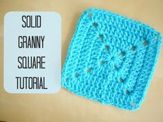 A tutorial on a Solid granny square using UK terms with US references throughout. Joining video (this shows a classic granny, but the 'single crochet' method...
