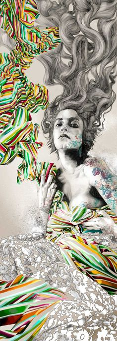Madrid-based Illustrator, painter and engraver Gabriel Moreno from his book released in 2011.