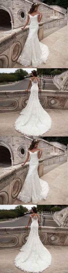 Wedding Dresses: New White Ivory Lace Wedding Dress Mermaid Bridal Gown Custom 4/6/8/10/12/14/16+ BUY IT NOW ONLY: $99.99