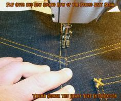 step by step pictures sewing jeans Está increíble