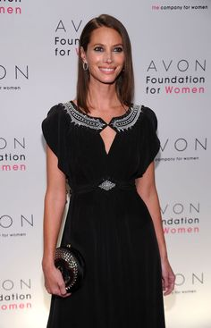 Christy Turlington Burns at the 2010 Avon Foundation for Women Gala.