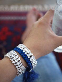DIY: braided rhinestone bracelet