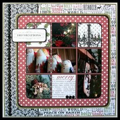 CHerInspirations: Happy December 1st!! Layout using Christmas Home!!