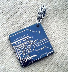 it's a circuit board on a pendant!