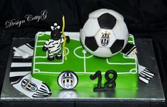 Le torte decorate di CettyG...: Torta Juventus 18 anni....
