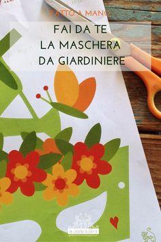 Anche i giardinieri festeggiano il Carnevale, non è uno scherzo! Certo, hanno gusti particolari: usano petali e foglie al posto dei coriandoli, non si separano mai dai loro strumenti di lavoro ed adorano le farfalle! Fai da te, in cinque minuti, la tua maschera di Carnevale da Vero Giardiniere! Scarica il file dal blog! #giardinoindiretta #maschere #carnevale #faidate