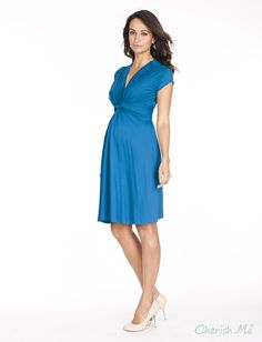 Seraphine Jolene Maternity Dress - Seaside Blue