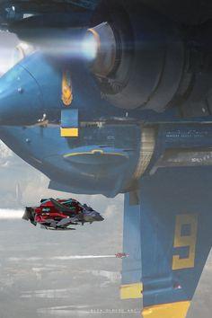 concept ships: Spaceship art by Alejandro Olmedo