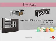 This Easter, we bring you substantial savings (up to 40% off) across a wide range of sophisticated and elegant office furniture.  #Easteroffer #easter2018 #eggcellent #offer! #EasterCelebration #DISCOUNT #EasterDiscounts #EasterSale #Sale #furnitureoffer #interiordesign #architecture #design #architects #art #interior #creativity #interiores #interiorismo #InteriorDecoration #Dubai #UAE #luxury #renovation