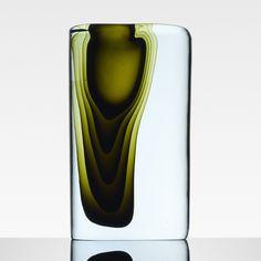 Antonio da Ros; Glass 'Sasso' Vase, 1959.