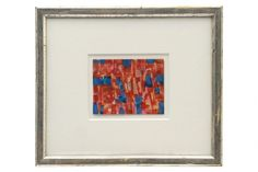 """Abstract oil pastel painting by Maurice Morel (1908-1991)  Size: 11"""" W 19"""" H France, circa 1970"""