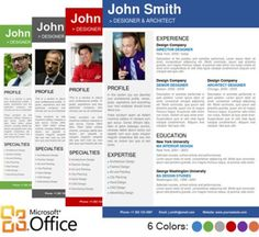 Professional Resume Template for Microsoft Word Office
