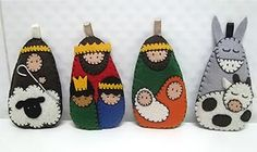 Diy Crafts - Craft Tips and Accessories Nativity Ornaments, Nativity Crafts, Felt Crafts, Holiday Crafts, Felt Christmas Decorations, Felt Christmas Ornaments, Christmas Nativity, Christmas Sewing, Christmas Embroidery