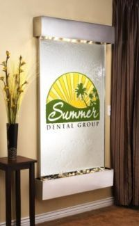 Summit Falls Glass Reflections Wall Fountain - customized with your logo