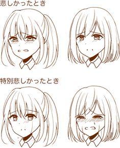 7つのポイントを意識しよう! 繊細な表情の描き方講座|イラストの描き方 感情が特別に動いた場合 Drawing Subtle Facial Expressions | Illustration Tutorial Facial Expressions Drawing, Anime Faces Expressions, Anime Drawings Sketches, Anime Sketch, Girl Face Drawing, Anime Face Drawing, Drawing Art, Manga Drawing Tutorials, Anime Character Drawing