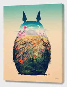 """""""Tonari No Totoro, Special Edition"""", Limited Edition Canvas Print by Victor Vercesi - From $110.00 - Curioos"""