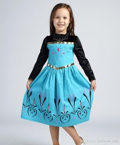 2015 Brand Foreign Trade Hot Sale Frozen Girls Long Sleeve Dresses Party Dress Elsa Princess Dress Costumes Girls Dress Wholesale From Kenimaida_baby, $43.7 | Dhgate.Com