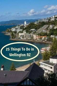 A view of Wellington New Zealand seen while hiking up Mount Victoria. It's one of 25 things to do in the capital of New Zealand. Read the article to discover the others.