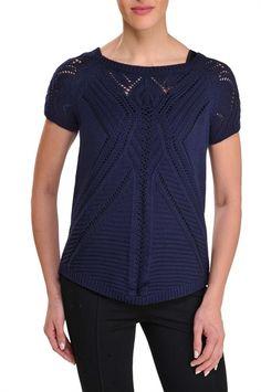 Bianca Nygård:  Short Sleeve Crochet Pullover Tunic