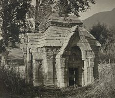 Kashmir. Temple of Meruvarddhanaswami at Pandrethan near Srinagar. View of south-west face. Probable date A.D. 913 to 921