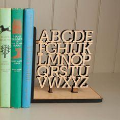 Wooden Alphabet Bookend