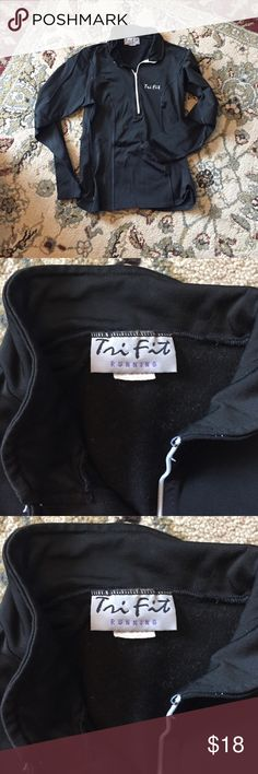 Stretchy running pull over by Tri Fit Stretchy running pull over half way up zipper. Really only worn once. Size Small 🎉 Tri Fit Tops Sweatshirts & Hoodies