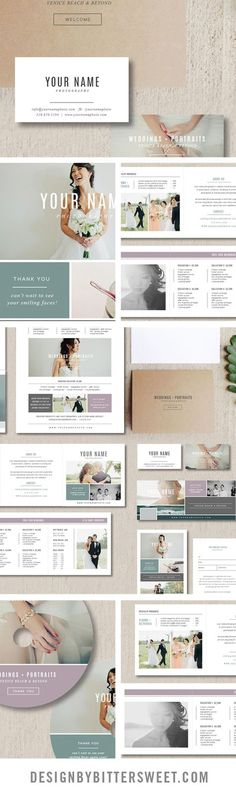 "Start rebranding your photography studio with our easy to use Photoshop templates.                -3.5"" x 2"" business card design -5"" x 5"" accordion trifold design -5"" x 7"" folding thank you card design -8.5"" x 11"" pricing guide template -4"" x 6"" gift card template (matching 4"" x 5.5"" design for WHCC) -2 DVD designs -facebook timeline template"