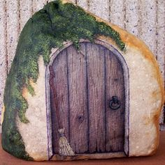 'The Witch's Door - Hand Painted Rock Art' is going up for auction at  5pm Tue, Sep 4 with a starting bid of $12.