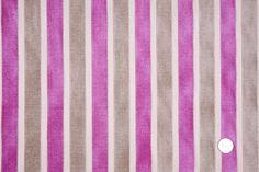 Mood Fabrics  | HV3216 Fuchsia/Beige/Cashmere Stripes Chenille
