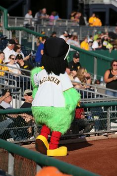 """Pittsburgh Pirates Parrot """"McClucken"""" mascot, PNC Park, July 29, 2013.  Canon EOS 6D / Canon 70 300mm f/4 – f/5.6 IS USM Photo by Gerry Dawes©2013 / gerrydawes@aol.com"""