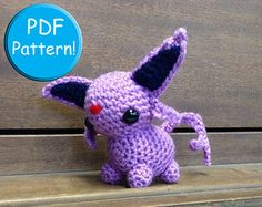 PDF PATTERN for Crochet Growlithe Amigurumi by CraftedCuteness