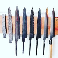 Stages of Japanese knife making