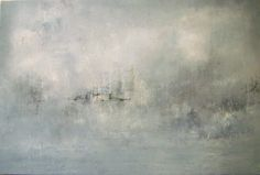 We fade to Grey. Oil on canvas by Liz Jameson 120x80cm. Private Commission for Oxfordshire home.