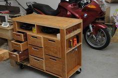 DIY shop tool cart
