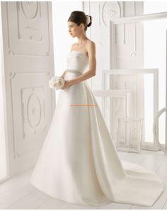 vestidos de novia sencillos 2014 de saten