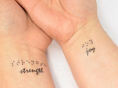 tatuajes ideas braile combinado