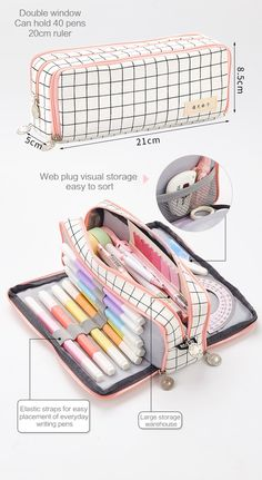 Aesthetic Check Pencil Cases – NotebookTherapy - Aesthetic Check Pencil Cases – NotebookTherapy The Effective Pictures We Offer You About diy home - Cute Pencil Case, School Pencil Case, Pencil Case Tutorial, Stationary School, Cute Stationary, Stationary Supplies, School Stationery, Life Hacks For School, Too Cool For School
