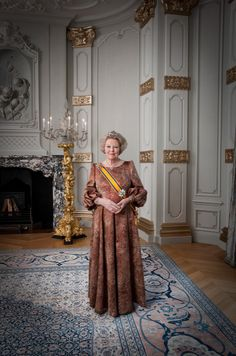 Queen Beatrix last official photo, as she passed on the throne to her son. Very classy lady