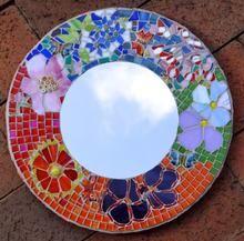 Small glass flower mirror 300sq mm