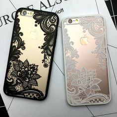 Luxury Lotus Lace Flower Mandala Clear Case For iPhone 7 6 Plus SE Vintage Phone Capa Back Cover For iPhone 6 7 5 Iphone 6 S Plus, Iphone 5s, Apple Iphone, Wholesale Phone Cases, Vintage Iphone Cases, Jelly Case, Iphone Price, Plus 4, Mobile Cases