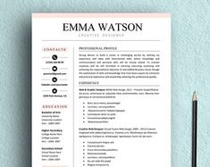 Resume Template  Cover Letter  Cv TemplateProfessional Clean