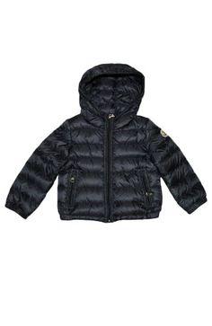 MONCLER KIDS Down Jacket with Hood -12M/18M -NAVY  #MONCLER_KIDS #Apparel