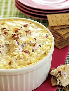 What happens when you mix the ingredients for a Reuben sandwich in a casserole? You wind up with this yummy hot dip. Serve the appetizer with rye crackers or party rye bread.