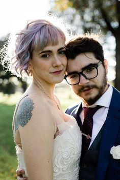 Don't miss the DIYed jacket & glitter Doc Martens at this funky & chic queer wedding Got Married, Getting Married, Wedding Hair Inspiration, Wedding Ideas, Offbeat Bride, Genderqueer, Wedding Beauty, Doc Martens, Wedding Hairstyles