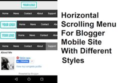 Scrolling menu for blogger mobile site